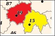 Ces 2 départements sont-ils situés dans la même région ?
