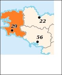 Quelle est la préfecture du département en orange ?