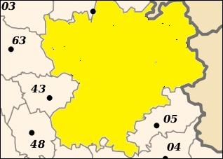 Quel département ne fait pas partie de la région Rhônes-Alpes ?