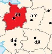 Département, région et préfectures françaises