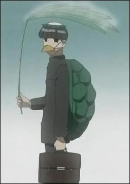 (Ep. 04 - La grenouille et le ... coassent) Lors de cette journée pluvieuse, Tenma veut offrir une place sous son parapluie à Karasuma, mais celui-ci refuse car il possède déjà une tenue de :