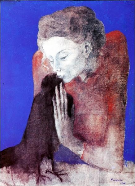 Est-ce Picasso qui a peint La femme à la corneille ?