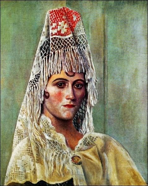 Est-ce Picasso qui a peint Olga à la mantille ?