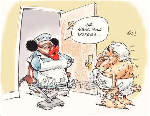 Il semble que ce politicien fasse une grave allergie à chaque fois qu'il voit cet instrument !
