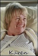 Qui interprète le rôle de Karen McCluskey ?