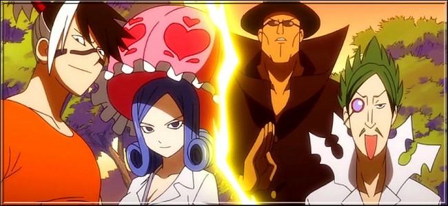 (Épisode 25) Cochez les éléments qui sont représentés par ces quatre personnages.(4 réponses)