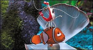 Comment s'appelle cet animal qui est en train de nettoyer Nemo ?