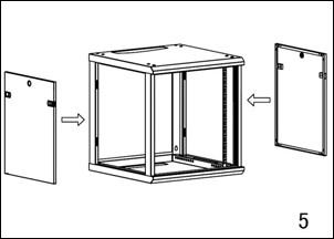 Fixez ensuite sur le fond les deux côtés du meuble, à l'aide des quatre vis n°2 .