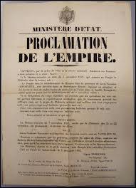 À quelle date Napoléon III proclame-t-il le Second Empire ?