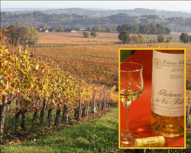 Le Pacherenc du-Vic-Bilh, a. o. c. produit entre Gers, hautes-Pyrénées et Pyrénées-Atlantique est un vin blanc ... .