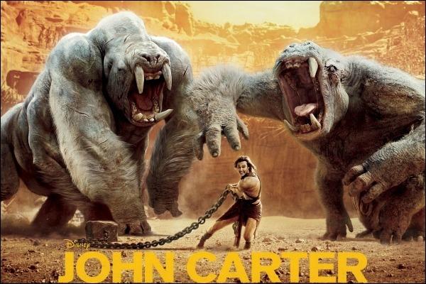 Dans ce film, John Carter se retrouve sur ...