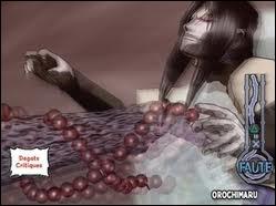Avec quoi le Dieu de la Mort invoqué par le Troisième Hokage tranche-t-il les jutsus qu'il a retirés du corps d'Orochimaru ?