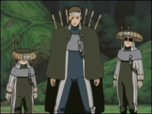 Comment s'appelle les 3 ninjas d'Ame qui se font tuer par Gaara dans la forêt de la mort lors de la deuxième épreuve de l'examen de sélection des chûnins ?