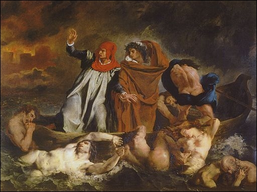Dante et Virgile aux enfers, dit aussi La Barque de Dante, 1822