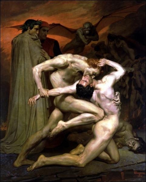 Dante et Virgile aux Enfers, 1850