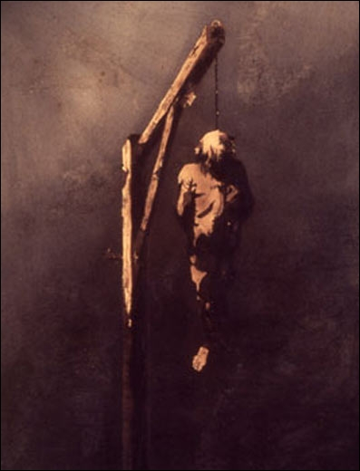 Le pendu, 1854