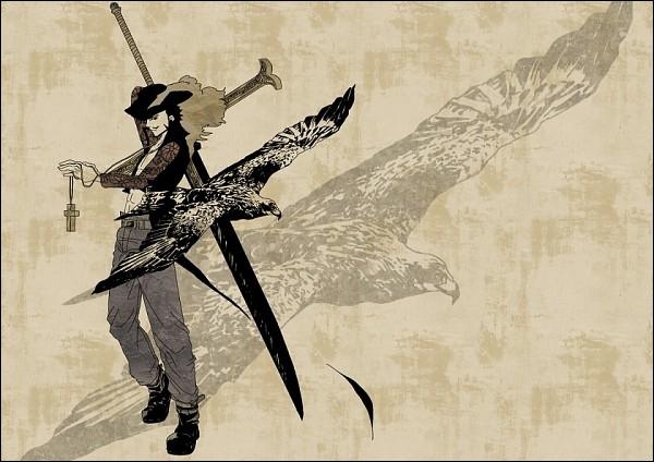 Quel est le nom du sabre d'Oeil de Faucon ( Dracule Mihawk ) ?