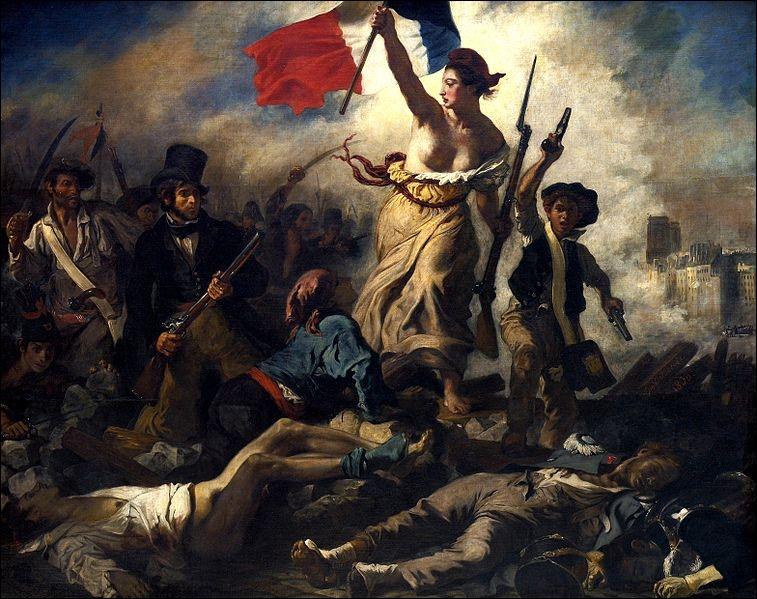 Vive la liberté !  La liberté guidant le peuple  représente une femme guidant le peuple vainqueur de la révolution des Trois Glorieuses. Qui est l'auteur de cette peinture ?