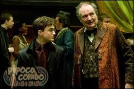 Dans  Harry Potter et le prince de Sang-Mêlé , avec qui Harry va-t-il à la fête de Slughorn ?