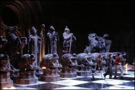 Dans  Harry Potter à l'école des sorciers , quelle pièce joue Hermione dans la partie d'échecs humaine ?