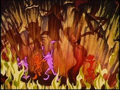 Que subissent les démons dansant que Chernabog prend dans ses bras ?