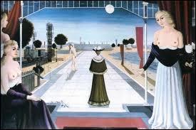 Quel lieu Paul Delvaux a-t-il représenté dans plusieurs toiles ?