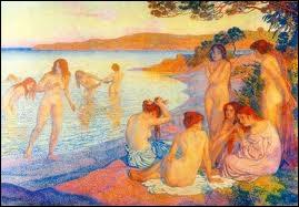 Quel peintre néo-impressionniste a eu notamment comme thème de prédilection les groupes de nus féminins ?