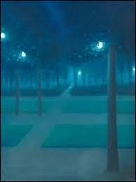 Quel peintre symboliste est l'auteur de paysages aux effets nocturnes comme  Nocturne au parc royal de Bruxelles  ?