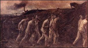 Quel peintre décrivit dans de sombres et tragiques tableaux les conditions de la vie ouvrière dans les mines de charbon ?