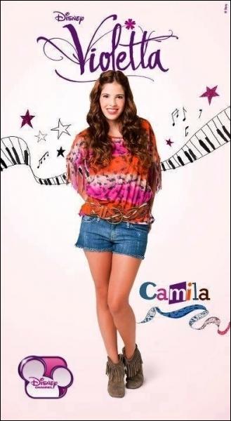 Quel est le prénom de l'actrice qui joue Camila ?