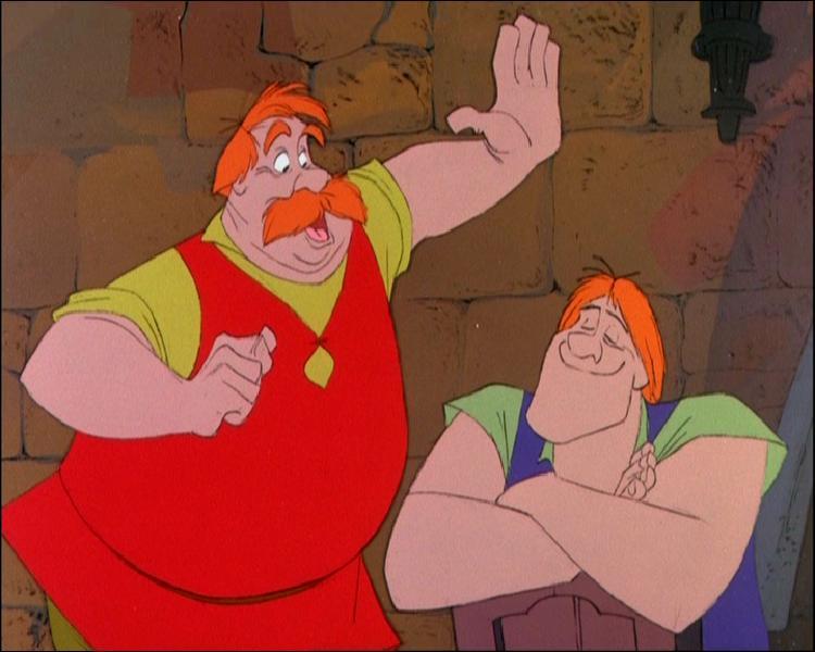 Qui sont ces méchants (dont l'un se repentira et l'autre sera en colère et honteux de devoir reconnaissance au héros) et de quel Grand Classique d'animation, connu pour ses tours de magie, viennent-ils ?