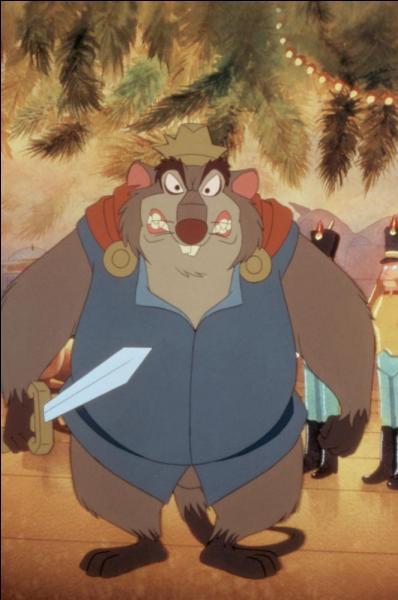 Hors Disney : qui est ce méchant, fils d'une Reine de rongeurs (qui avait des pouvoirs magiques) morte écrasée par des piliers à l'effigie d'un Roi colérique et capricieux ? De quel film d'animation canadien vient-il ?
