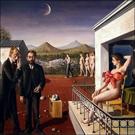 A quel peintre doit-on ce tableau surréaliste exécuté en 1939, ayant pour intitulé  Phases de la lune  ?