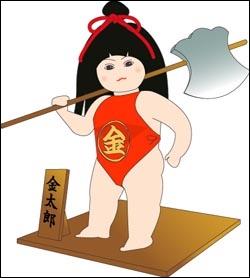 Kintaro, est un jeune héros du folklore japonais. Ne vous rappelle-t-il pas quelqu'un ?