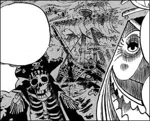 Le  Triangle de Florian  que doit traverser l'équipage du chapeau de paille lors de l'arc Thriller Bark fait évidemment référence :