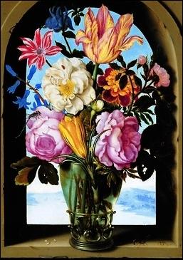 Quel peintre hollandais a peint ce bouquet ?