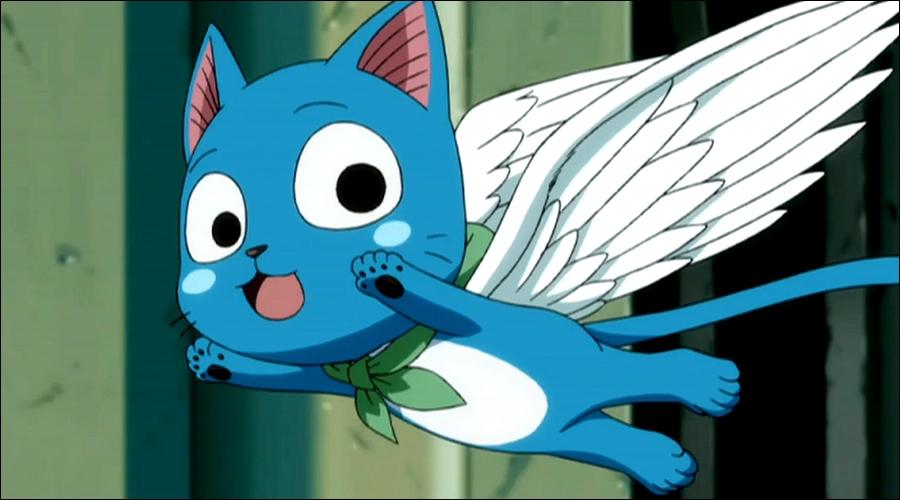 Un chat volant, on n'en voit pas tous les jours... Ni un chat bleu d'ailleurs...