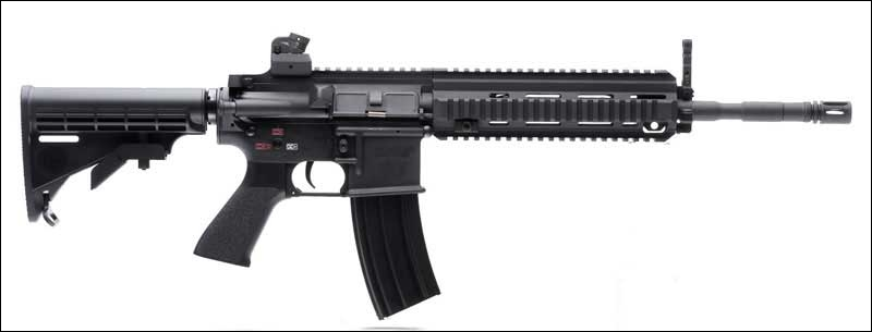 Quelle est la différence notable entre le HK-416 et la carabine M-4 sur le mécanisme ?