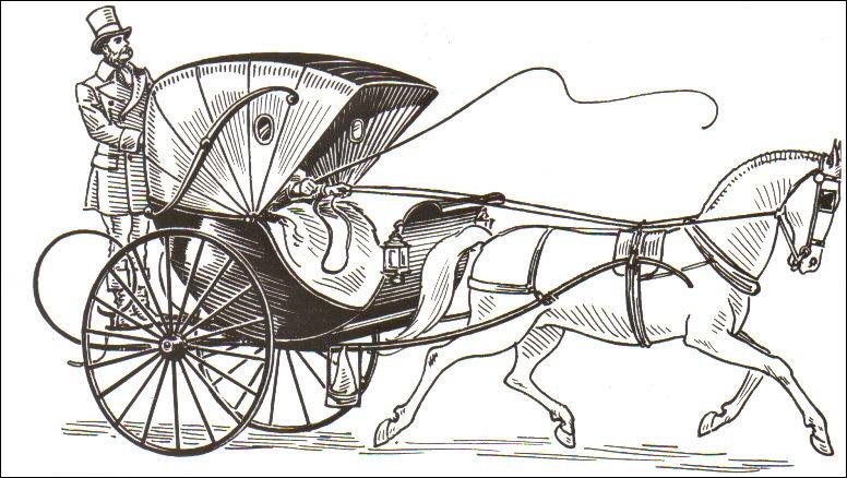 Quelle est cette voiture légère et rapide munie d'une capote mobile, le plus souvent montée sur deux roues et tirée par un seul cheval, dont le nom est resté dans l'automobile ?
