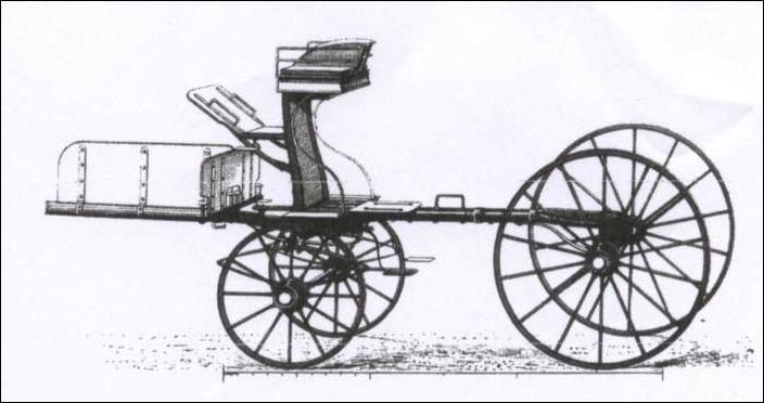 Quel est le curieux nom de cette voiture hippomobile à quatre roues, destinée à l'origine au dressage des jeunes chevaux ?