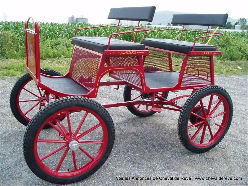 Quel est le nom de cette voiture hippomobile légère, ouverte, à deux roues et deux places, inventée en 1777 par le carrossier parisien Boquet ?