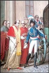 Pour quelle raison le pape, qui avait sacré Napoléon, est-il arrêté en 1809 ?
