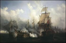 Quel pays soutenait la France pendant la bataille de Trafalgar ?