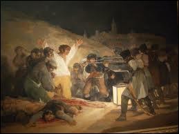 Comment se nomme le tableau qui représente la fusillade des prisonniers espagnols révoltés ?