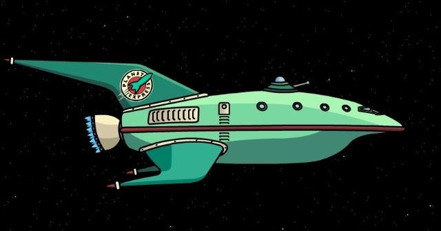 Quel est le système de déplacement du vaisseau de Planet Express ?