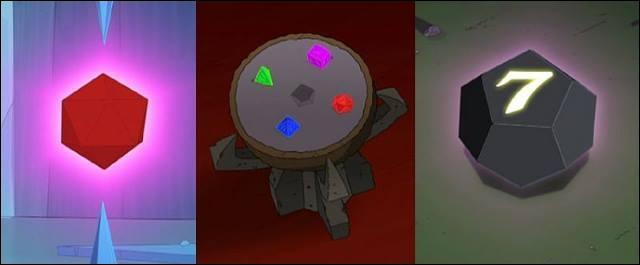Dans le film  Bender's Game , qu'annonce le Dé du Pouvoir ?
