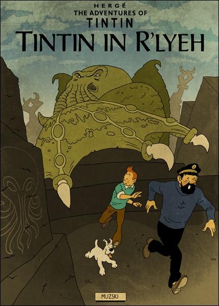 Ce fan-art Tintin in R'lyeh voit notre héros Belge confronté à l'univers de...