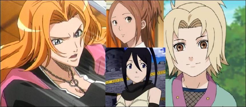 Matsumoto, Miyoshi, Tsubaki et Tsunade. Enfin des filles ! Faut dire qu'il n'y en a pas tant que ça dans les shônen. Quel cliché représentent-elles ?