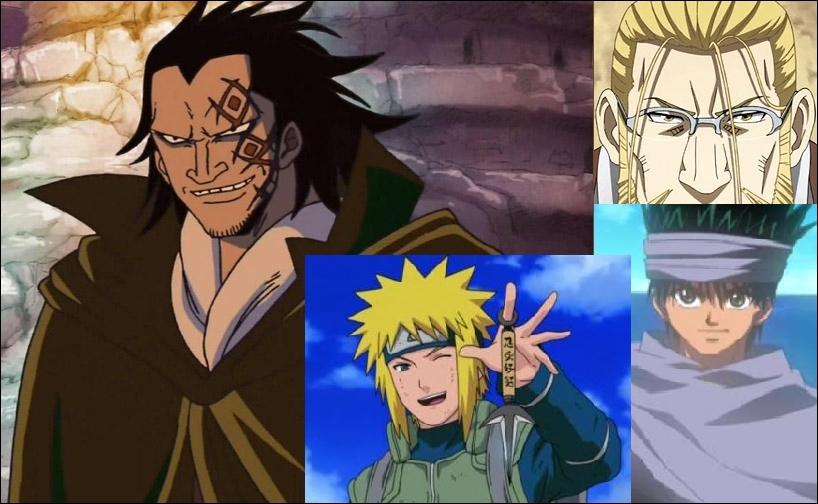 Dragon, Minato, Hohenheim et Gin. On les voit pas souvent ceux-là ! Pourtant, ils ont un rôle bien précis.