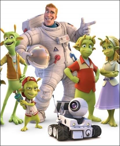 Quel est le titre de ce film d'animation racontant la rencontre explosive entre des extra-terrestres et un astronaute perdu ?